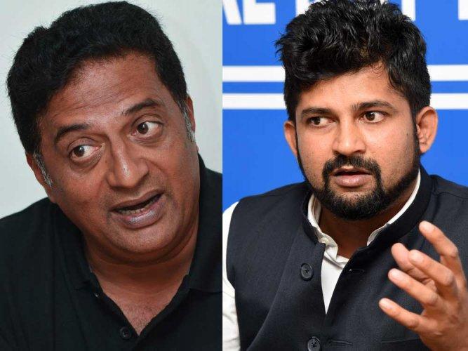 Prakash Raj slaps legal notice on Mysuru MP Pratap Simha for defamation