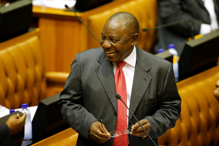 S Africa parliament elects Ramaphosa as new president
