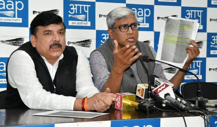 AAP accuses Delhi police of 'dadagiri'