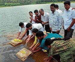 RS 5.5 crore pipeline work launched in Chikmagalur