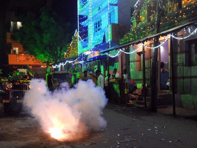 More than 25 people are receiving treatment in various hospitals of the city for burns caused while bursting firecrackers on the occasion of Deepavali.