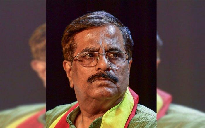 Kannada Sahitya Parishad(KSP) State President Manu Baligar. (DH Photo)