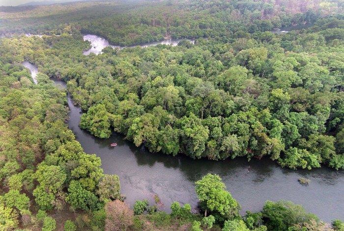 lifelines in peril: A view of River Kali along the Castle Rock Range in Dandeli Wildlife Sanctuary. DH Photo