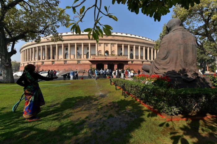 A view of the Parliament House in New Delhi. (PTI file pic)