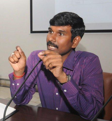 Newly appointed Deputy Commissioner of Mysuru K B Shivakumar - PHOTO / DH PV PHOTOS