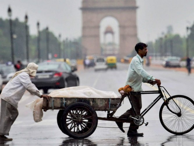 A Home Ministry spokesperson said thunderstorm and rain would occur over some places in Delhi. PTI file photo