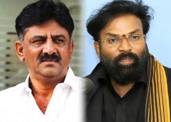 The bypoll will be a prestige battle for Water Resources Minister D K Shivakumar (left) and BJP leader B Sriramulu. (DH Photo)