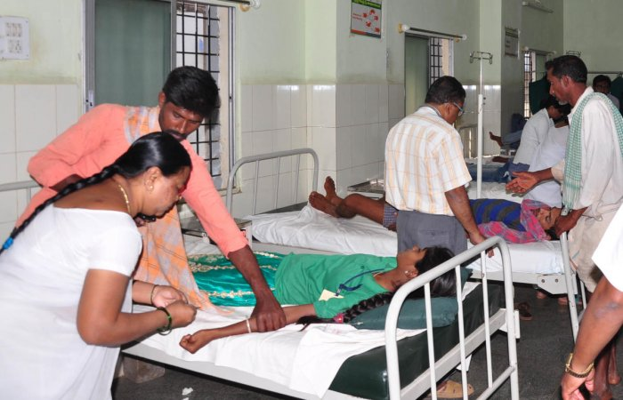 """Taluk medical officer Dr Sulochana visited the school and examined the food. Taluk Panchayat executive officer B Mallanaika said, """"The students are out of danger. Treatment has been given to all the students."""""""