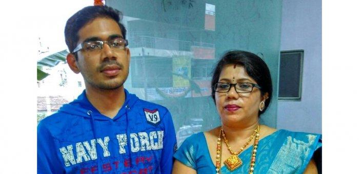 Kishan Gangolli with his mother Geetha Gangolli's joy.