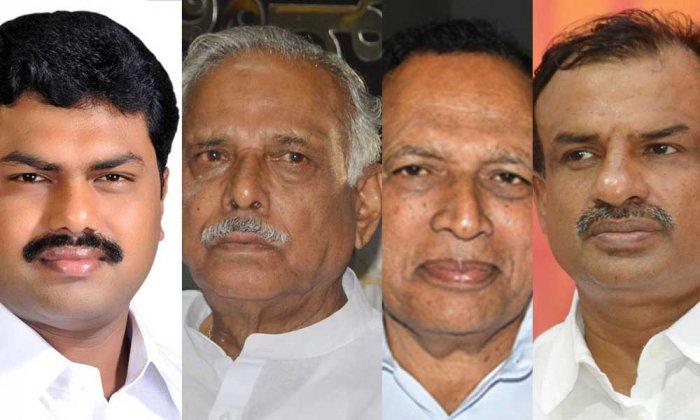B Y Raghavendra, Kagodu Thimmappa, Kimmane Rathnakar and Manjunath Bhandary. (DH Photos)
