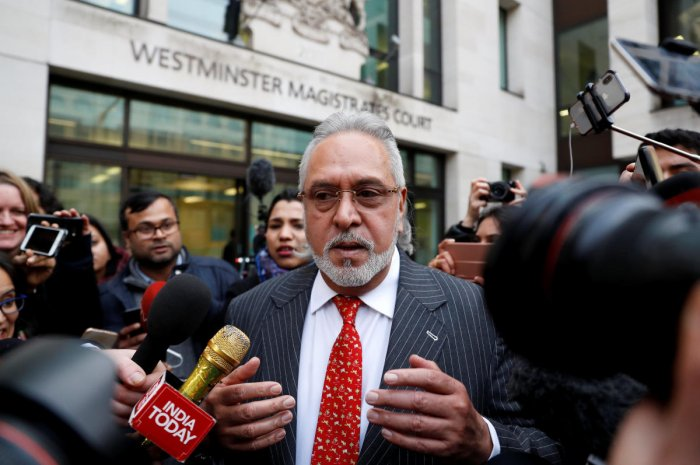 Vijay Mallya leaves after his extradition hearing at Westminster Magistrates Court, in London, Britain, December 10, 2018. REUTERS/Peter Nicholls