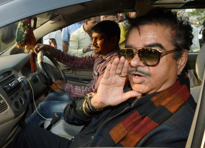 Actor and MP Shatrughan Sinha seen here speaking to the media in this dated file photo.