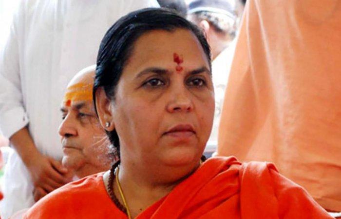 BJP leader and Union minister Uma Bharti. PTI file photo