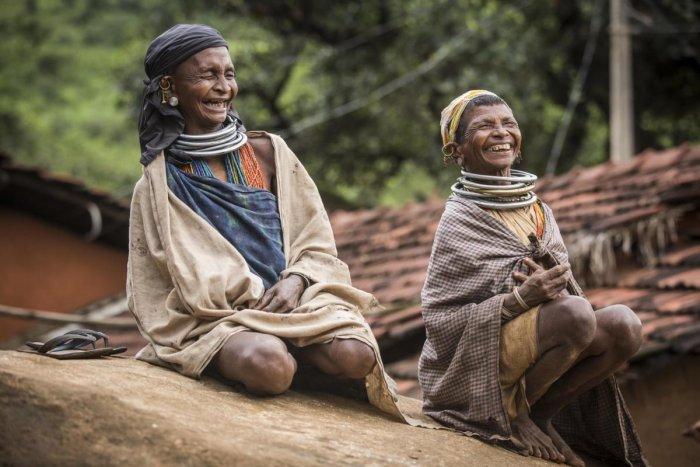 ETHNIC Bonda tribals of Odisha.