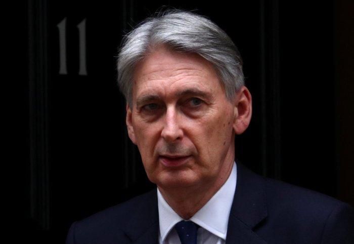 Britain's Chancellor of the Exchequer Philip Hammond. Reuters file photo