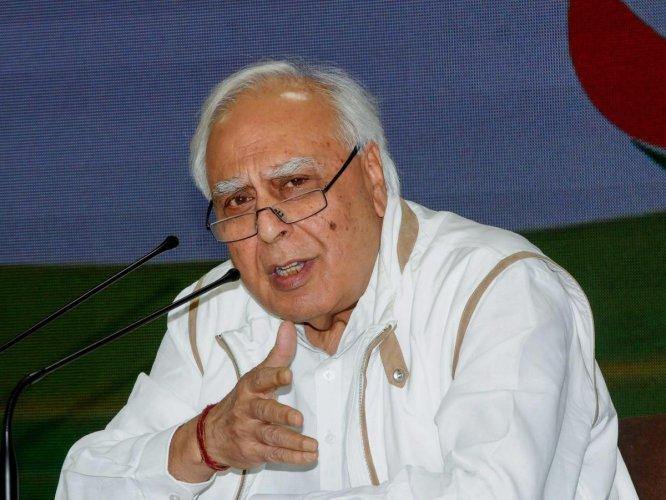 Senior Congress leader and former Union Minister Kapil Sibal. PTI File photo