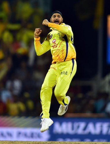 Harbhajan Singh's three-wicket burst set up CSK's win over Royal Challengers in Bangalore on Saturday. PTI