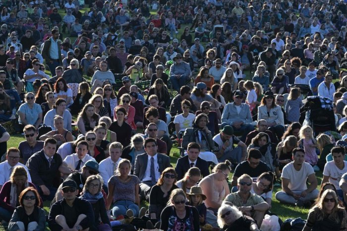 Officials estimate up to 40,000 people attended the event on a sunny Sunday evening at Hagley Park. AFP File photo