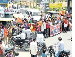 ABVP, CPI stage protest against petrol price hike