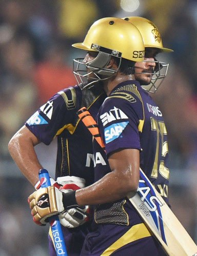 Uthappa, Pandey power KKR to 187/2 against Dolphins