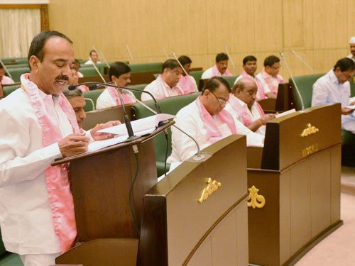 Telangana: 14 Cong MLAs suspended for disrupting Assembly