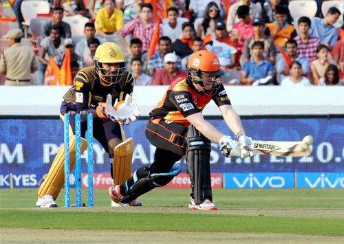 KKR beat Sunrisers Hyderabad by eight wickets