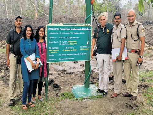 Solar-powered water pump to slake animals' thirst in NTR