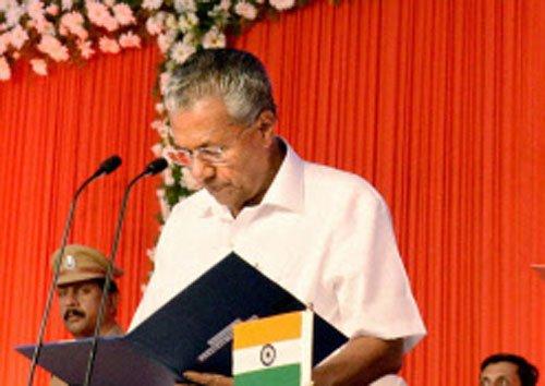 Pinarayi Vijayan sworn in as Kerala Chief Minister