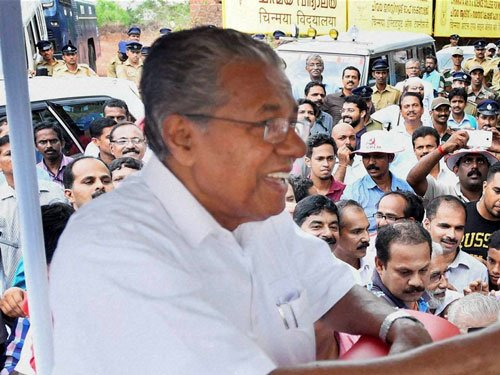 Pinarayi Vijayan calls on Governor, to take oath at 4 PM today