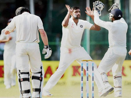 India's Ashwin second fastest to 200 Test wickets