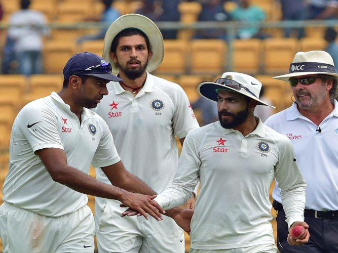 Ashwin, Jadeja jointly on top in ICC Test rankings