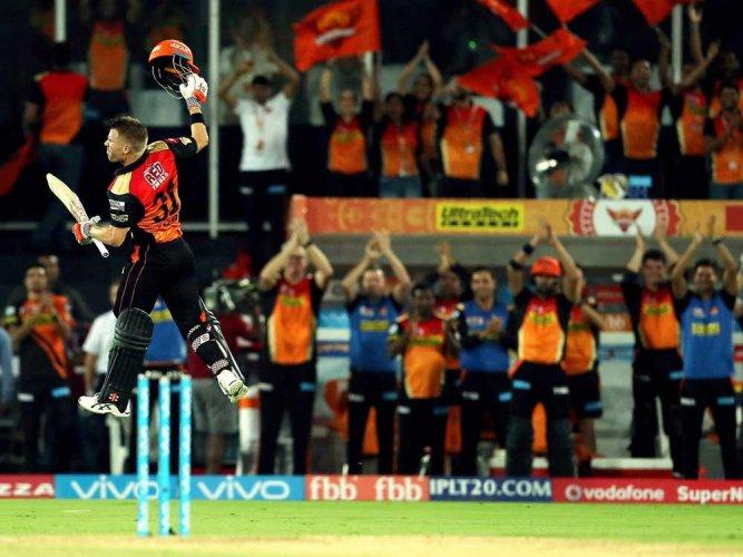 Ton-up Warner power Sunrisers to 48-run win over KKR in IPL