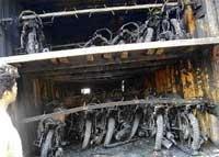 11 burnt alive as trucks collide in Chitradurga dist