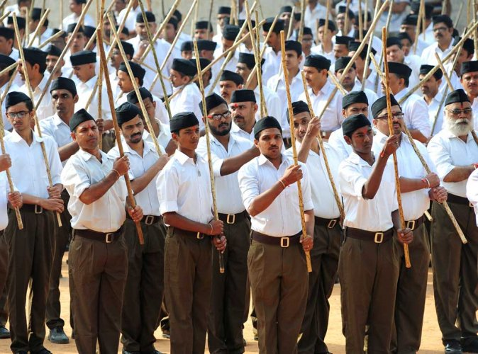 RSS takes out two flag marches in Chikkaballapur