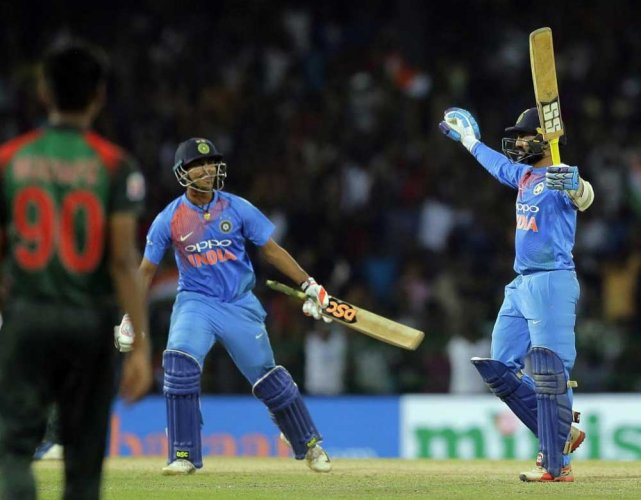 Ice-cool Dinesh Karthik seals it for India