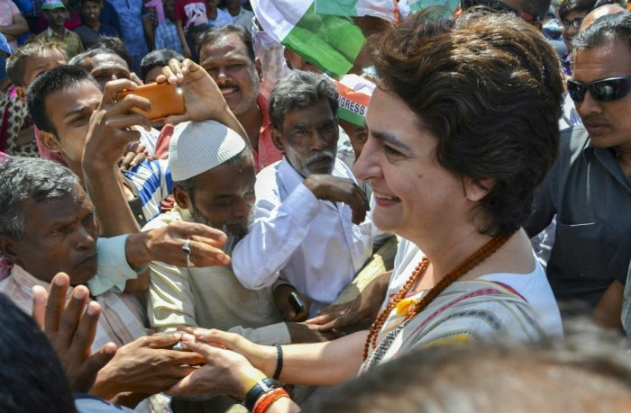 After her boat ride from Prayagraj to Varanasi to canvass support for her party, Congress general secretary Priyanka Gandhi Vadra would be taking the train route to campaign in Ayodhya on Wednesday. PTI file photo