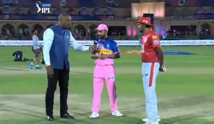 Rajasthan Royals skipper Ajinkya Rahane won the toss and elected to bowl against Kings XI Punjab in their first match of the Indian Premier League here Monday. (Screengrab)
