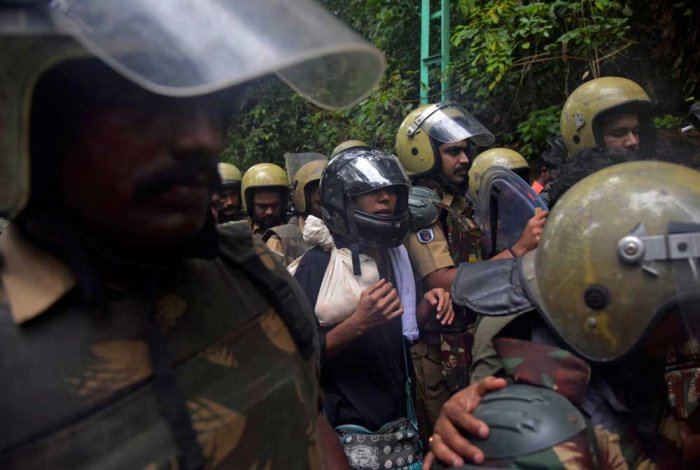 Rehana and Hyderabad-based journalist Kavitha were taken to the hills with heavy police protection. PTI photo