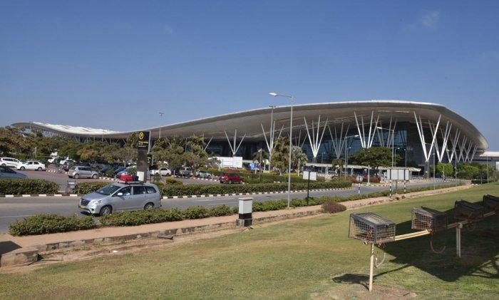Kempegowda International Airport (KIA) in Devanahalli, Bengaluru on Sunday. Photo by S K Dinesh