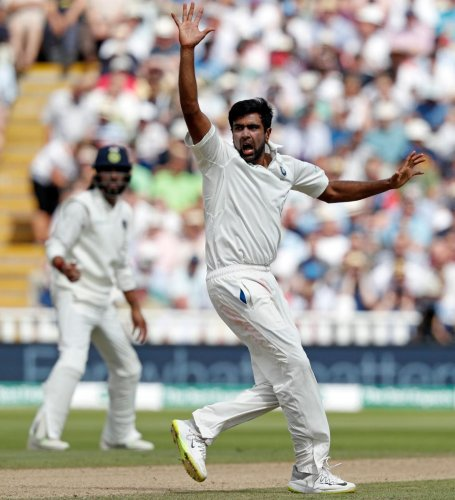 TUNING IT AROUND: R Ashwin won the first round with a seven-wicket haul in the first Test. AFP