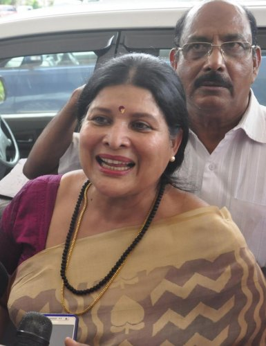 Karnataka Women and Child Development Minister Jayamala. DH file photo.