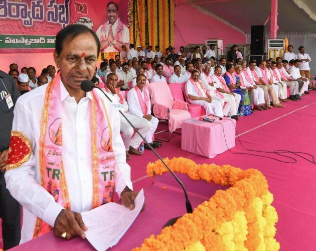 TRS chief K Chandrasekhar Rao will renew efforts to forge a non-NDA, non-UPA front after the Telangana Assembly election, a key party leader said on Monday. (PTI file photo)