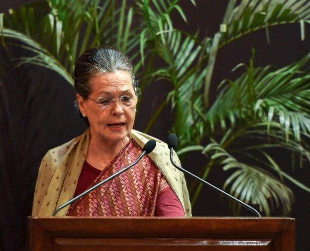 Former Congress president Sonia Gandhi. PTI file photo