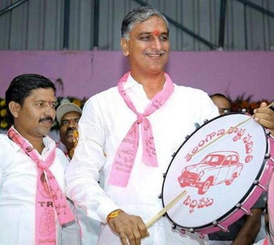 Harish Rao at a campaign in Siddipet. DH PHOTO
