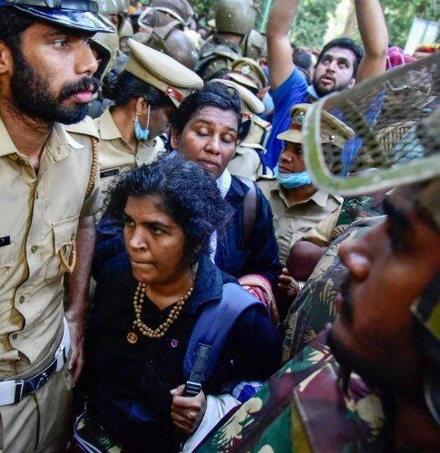 Bindu and Kanakadurga. (PTI Photo)