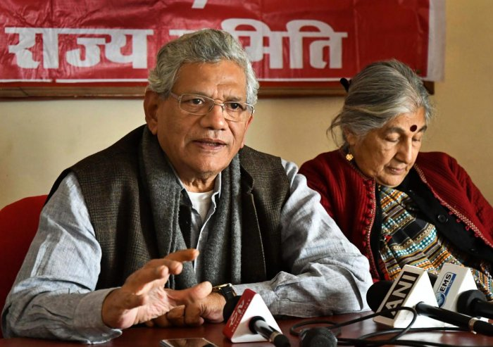 """CPI(M) General Secretary Sitaram Yechury said the apex court should take """"suo moto cognisance of contempt of court"""" against the prime minister. (PTI Photo)"""