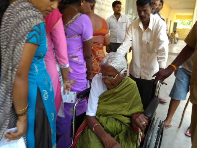 There were 15,409 differently-abled voters in the district, among whom, 14,800 have exercised their franchise on Saturday.