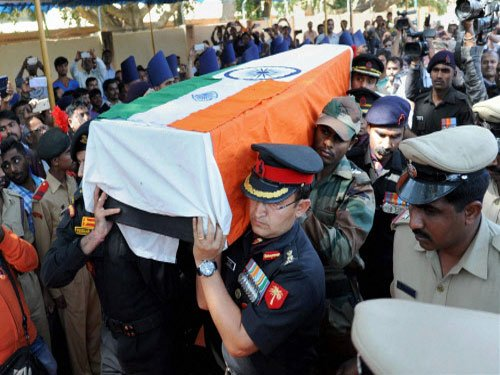 NSG officer's body reaches hometown in Kerala