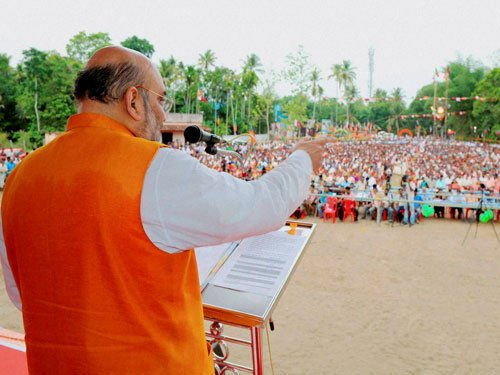 Shah campaigns in poll-bound Kerala