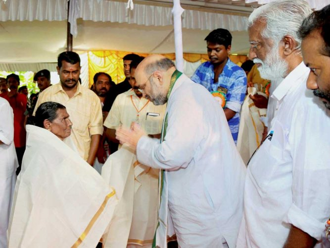 Shah winds up Kerala visit, says enough potential for BJP's growth
